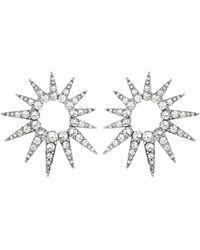Oscar de la Renta - Crystal Starburst Earrings - Lyst