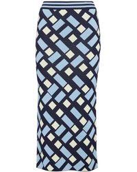 Dodo Bar Or Falda tubo en jacquard - Azul