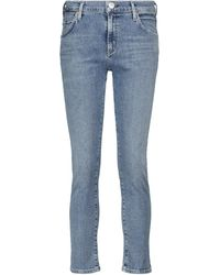 Citizens of Humanity Jeans slim cropped Elsa a vita media - Blu