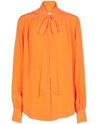 Victoria Beckham Bluse aus Seide - Orange