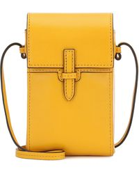 Hunting Season The Crossbody Pouch Leather Bag - Yellow