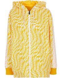 Fendi Wendbare Jacke aus Baumwolle und Nylon - Gelb