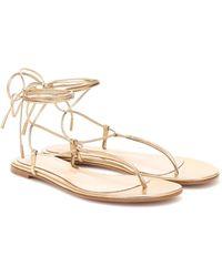 Gianvito Rossi Gwyneth Thong Sandals - Metallic