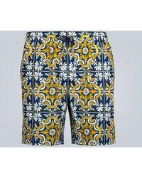 Dolce & Gabbana Bedruckte Badeshorts - Blau