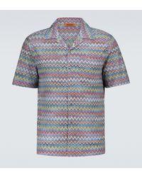 Missoni Kurzarmhemd mit Zickzackmuster - Mehrfarbig
