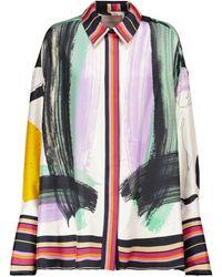 ROKSANDA Blouse en soie à imprimé abstrait - Multicolore