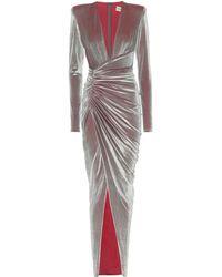 Alexandre Vauthier Vestido de fiesta de terciopelo - Multicolor