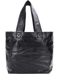 Victoria Beckham Cabas en cuir Sunday - Noir