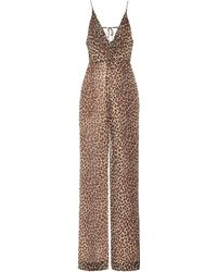 Jonathan Simkhai - Leopard-print Crêpe Jumpsuit - Lyst
