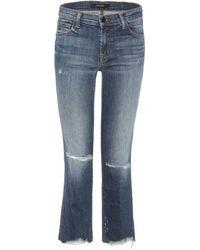 J Brand - Cropped Jeans Selena - Lyst