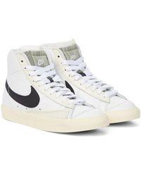 Nike Zapatillas Blazer Mid '77 de piel - Blanco