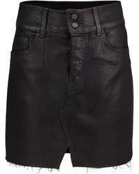 GRLFRND Mini-jupe en jean Evie à taille haute - Multicolore