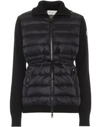 Moncler Down And Wool Jacket - Black