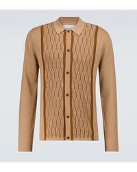 King & Tuckfield Knitted Wool Shirt - Brown