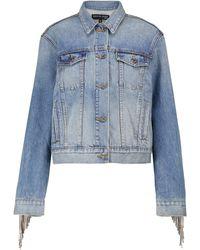 Veronica Beard Kinley Embellished Denim Jacket - Blue