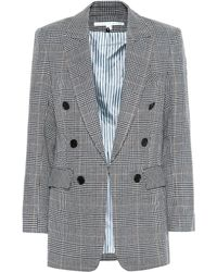 Veronica Beard Bexley Dickey Linen-blend Blazer - Gray