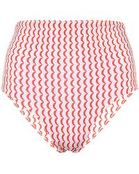 Asceno Braga de bikini Deia estampada - Rojo