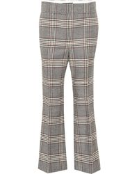 JOSEPH - Ridge Checked Wool Pants - Lyst