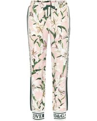 Dolce & Gabbana Floral Trackpants - Pink