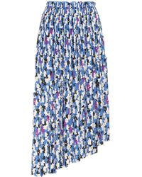 KENZO - Asymmetric Abstract Printed Skirt - Lyst