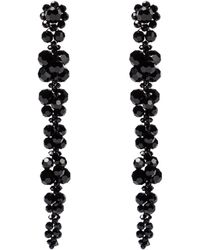 Simone Rocha Aretes adornados con cristales - Negro