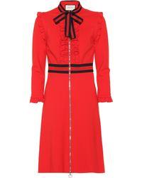 Gucci Viscose Jersey Dress - Red