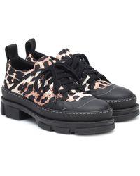 Ganni Leopard-print Nylon Sneakers - Multicolor