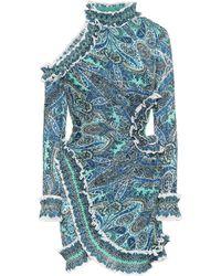 Zimmermann Bedrucktes Minikleid Moncur - Blau