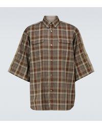 Undercover Camisa de manga corta de cuadros - Marrón