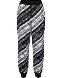 Givenchy Pantalon de survêtement en jacquard de laine - Noir