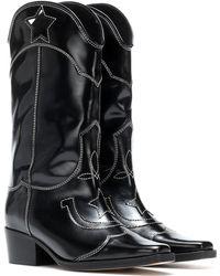 Ganni - High Texas Leather Cowboy Boots - Lyst