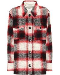 Étoile Isabel Marant Gastoni Checked Wool-blend Jacket - Red