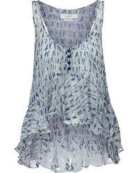 Étoile Isabel Marant Top Slimea a stampa tie-dye - Blu