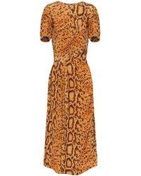 Preen By Thornton Bregazzi Daliz Snake-print Dress - Metallic