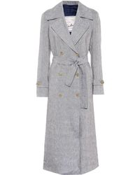 Giuliva Heritage Collection Trench-coat The Christie en lin - Bleu
