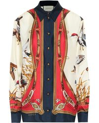 Gucci Bedrucktes Seidenhemd - Mehrfarbig