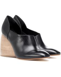 Loewe Flex Loafer 90 Leather Court Shoes - Black