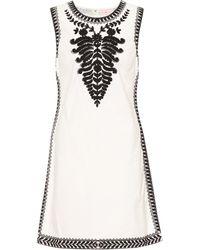 Tory Burch Besticktes Minikleid aus Baumwolle - Weiß
