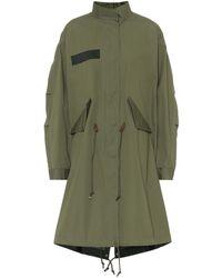 Sacai Cotton Oxford Coat - Green