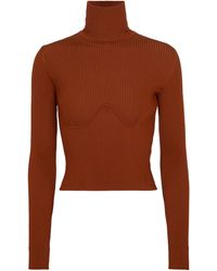 Gabriela Hearst Russel Ribbed-knit Turtleneck Jumper - Red
