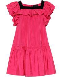 Marc Jacobs Minikleid aus Taft - Pink