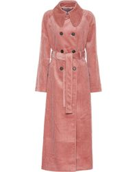 ALEXACHUNG Trench in velluto a coste - Rosa