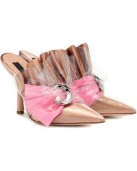 MIDNIGHT 00 Embellished Pvc Mules - Natural