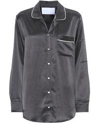 Asceno Hemd aus Seide - Schwarz