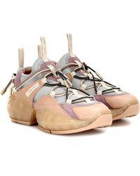 """Jimmy Choo 50mm Hohe Sneakers Aus Mesh & Wildleder """"diamond"""" - Mehrfarbig"""