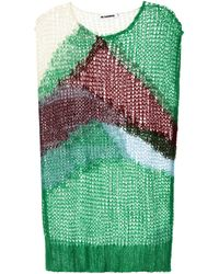 Jil Sander Mohair-blend Vest - Green