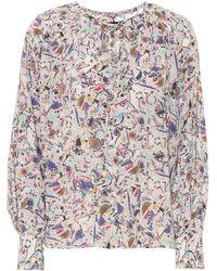 Isabel Marant Blusa Amba de seda estampada - Multicolor