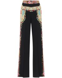Etro Printed High-rise Flared Trousers - Multicolour
