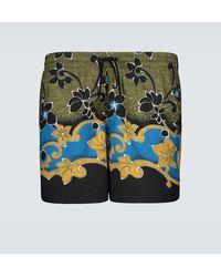 Dries Van Noten Floral Printed Swim Shorts - Green