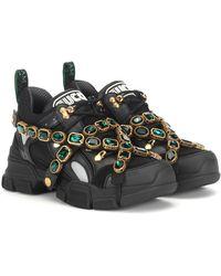 Gucci Flashtrek Embellished Sneakers - Multicolour